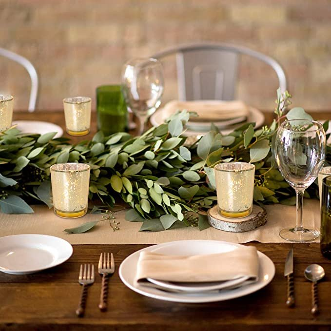 Gold Votive Candle Holders Wedding Table Decor