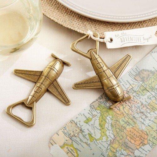 Airplane Bottle Opener Travel Themed Wedding Favors