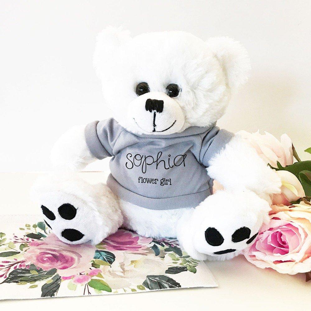 Custom Teddy Bear Flower Girl Gift Idea