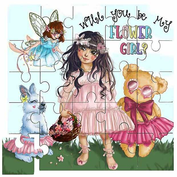 Flower Girl Puzzle Gift Idea