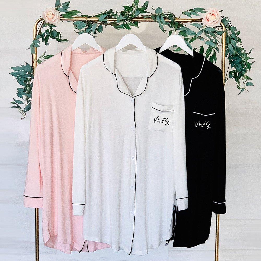 Bridal Cotton Sleep Shirts Spa Bridal Shower Idea