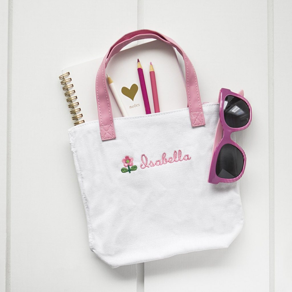 Personalized Flower Girl Tote Lovely Gift Idea