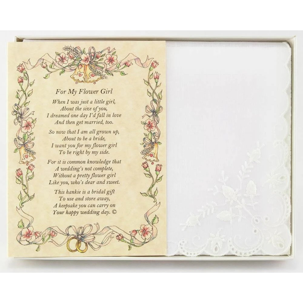 From The Bride To Her Flower Girl Personalized Handkerchief
