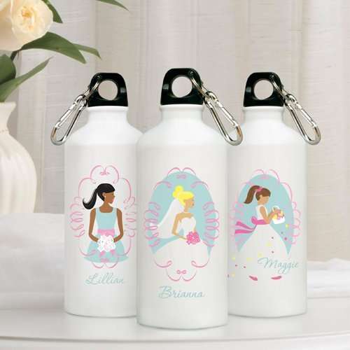 Personalized Water Bottle Flower Girl Gift Idea From The Bride