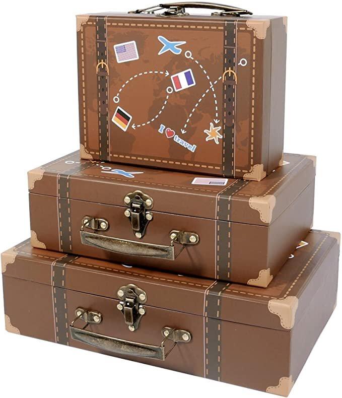 Decorative Suitcase Travel Themed Wedding Decor