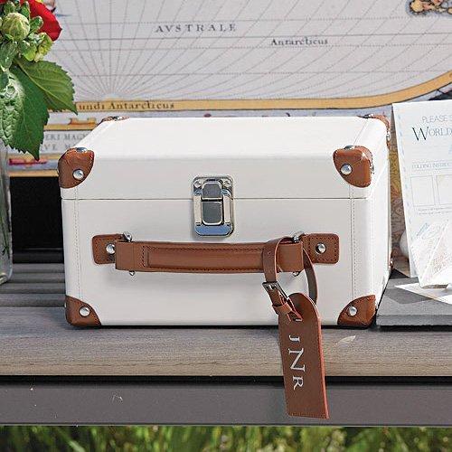 Travel Themed Wedding Mini Suitcase Wishing Well