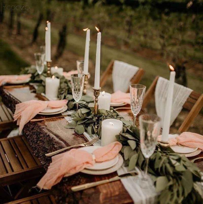 Gauze Table Runner Bohemian Desert Inspired Wedding Table Decor