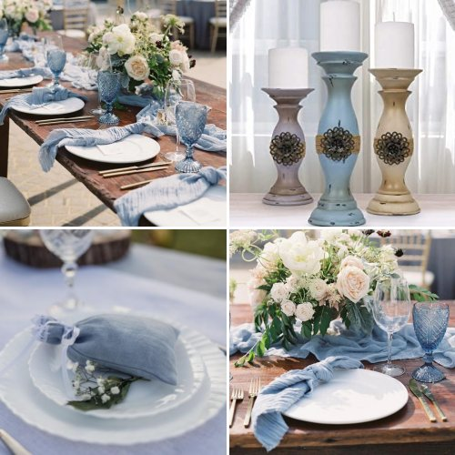 Dusty Blue French Country Inspired Wedding