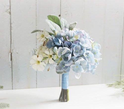 Dusty Blue Hydrangea Flower Bouquet