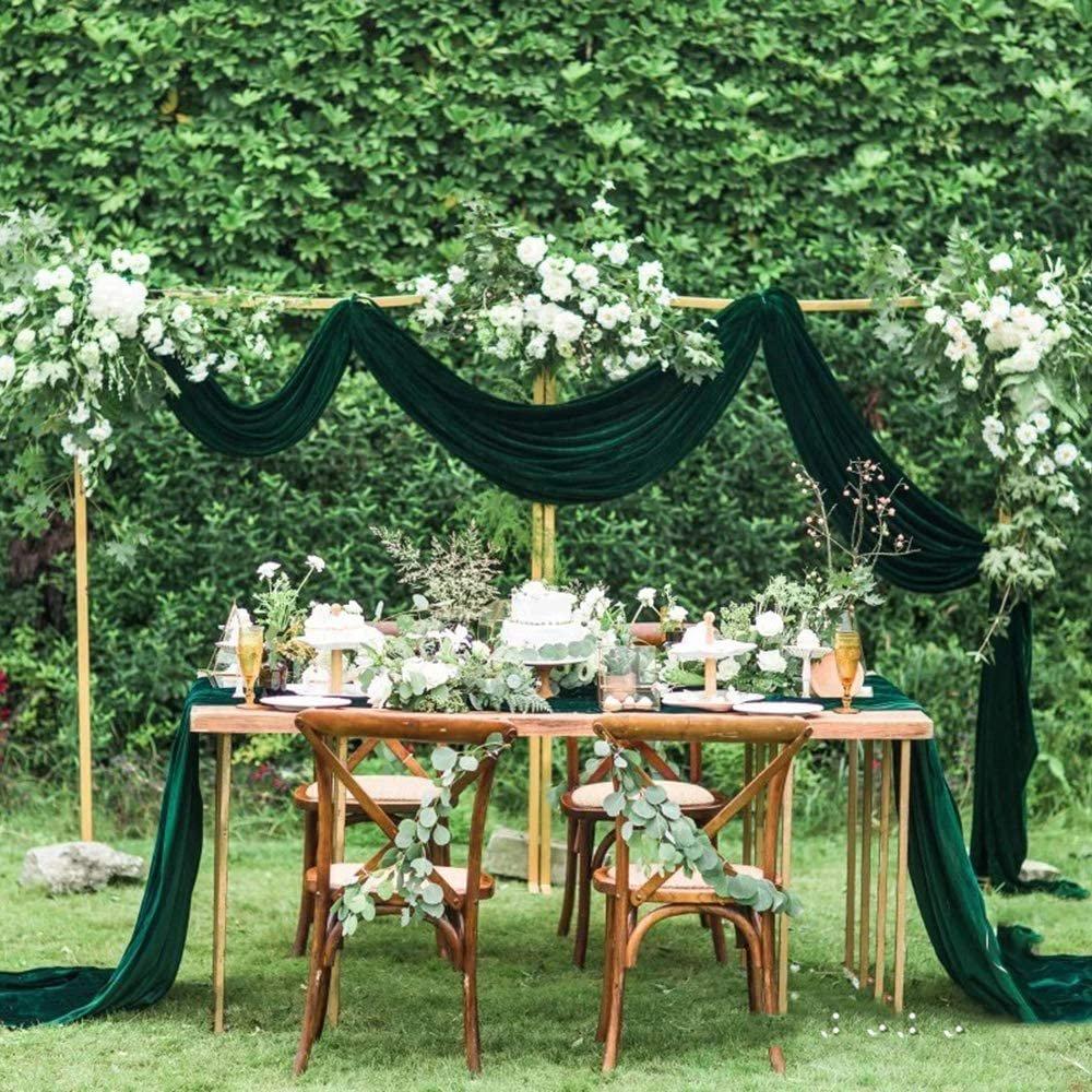 Emerald Velvet Arch Decor