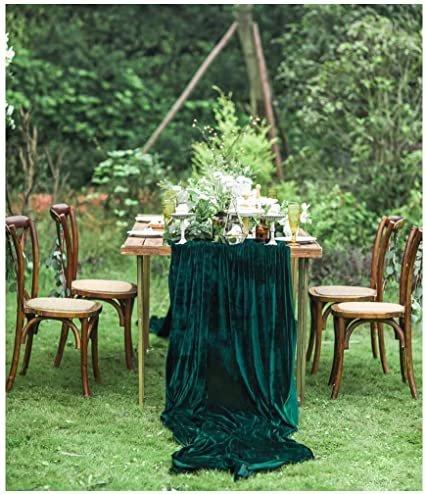 Emerald Velvet Table Runner