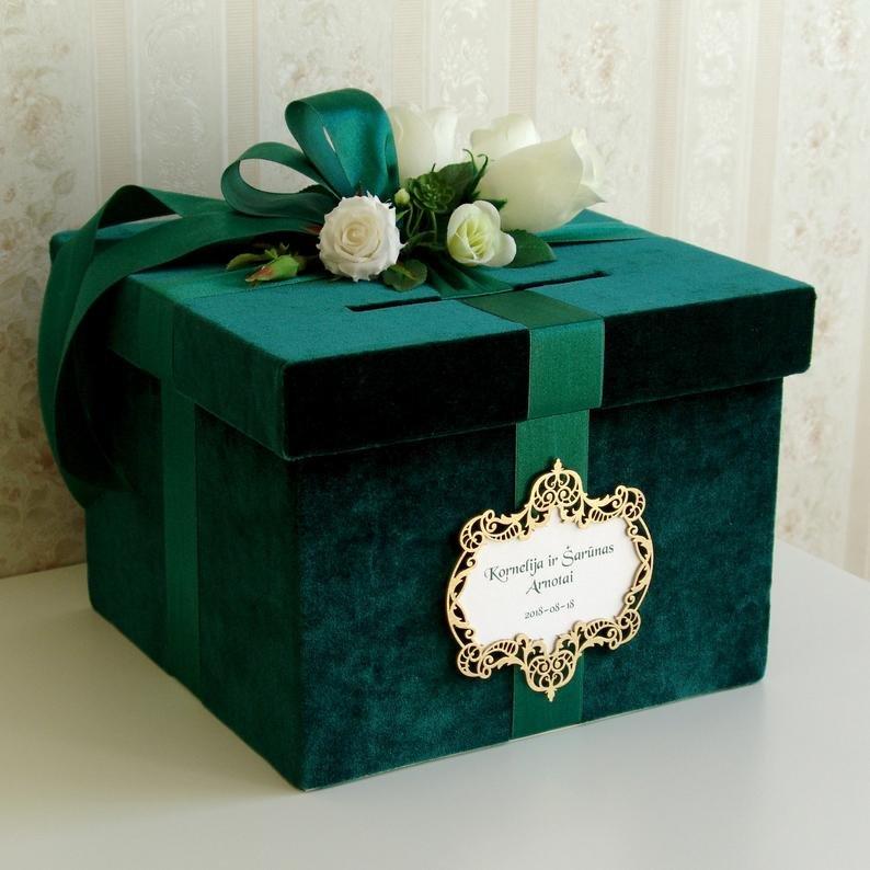 Emerald Wedding Card Box