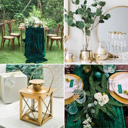 Enchanted Emerald And Gold Wedding Inspiration