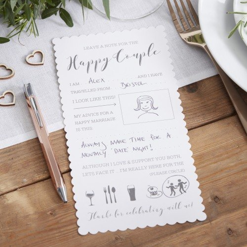 Fill In The Blank Wedding Advice Cards