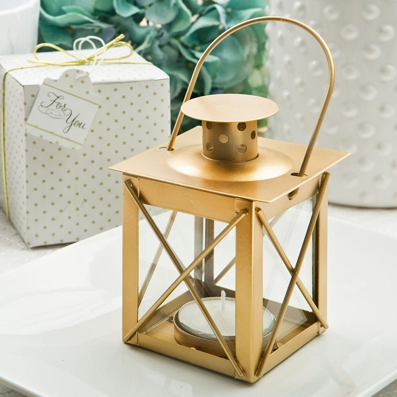 Gold Mini Lantern Wedding Favors