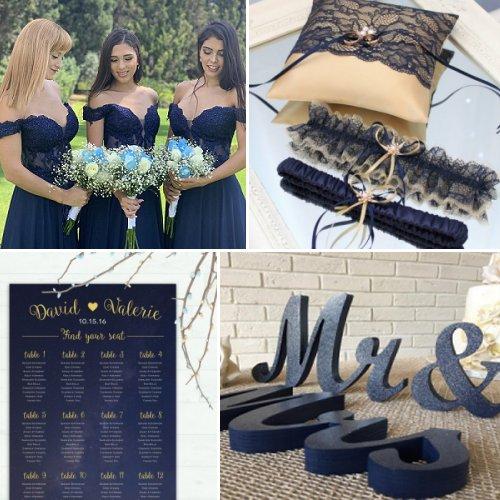 Elegant Navy Blue & Gold Wedding Theme