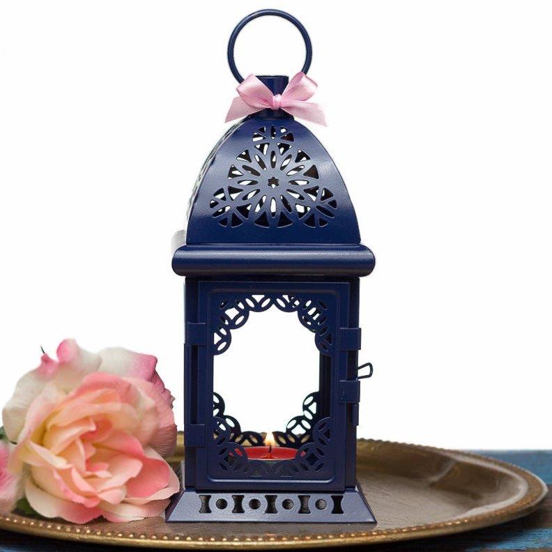 Navy Blue Wedding Lantern Centerpiece