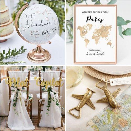 Stylish Travel Themed Wedding