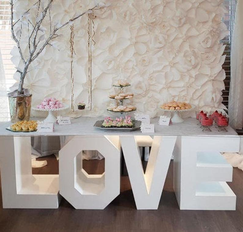 LOVE Table Base Letters
