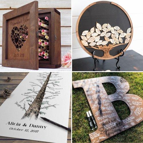 Handcrafted Wedding Guest Book Alternatives