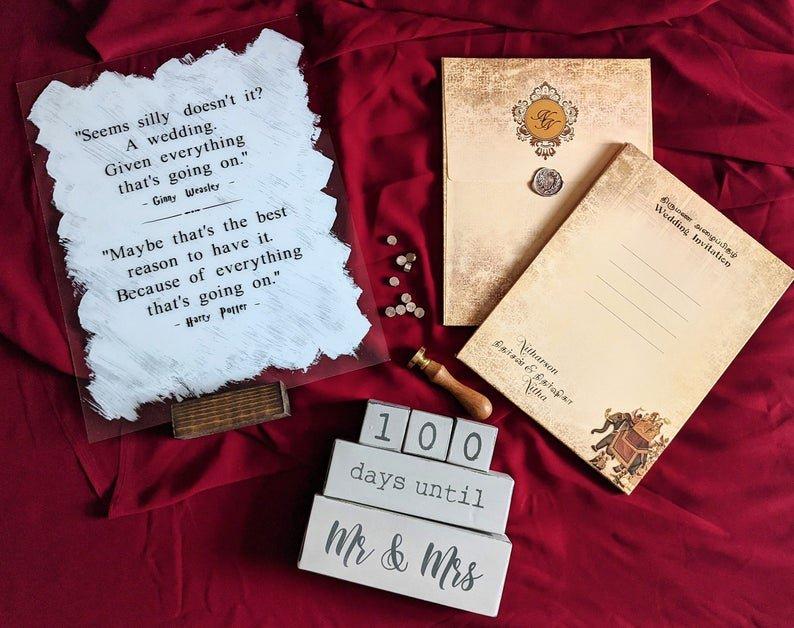 Harry Potter Acrylic Wedding Sign