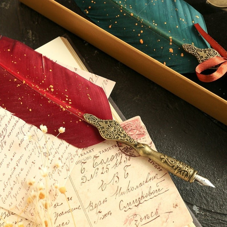 Antique Calligraphy Quill Pen Set
