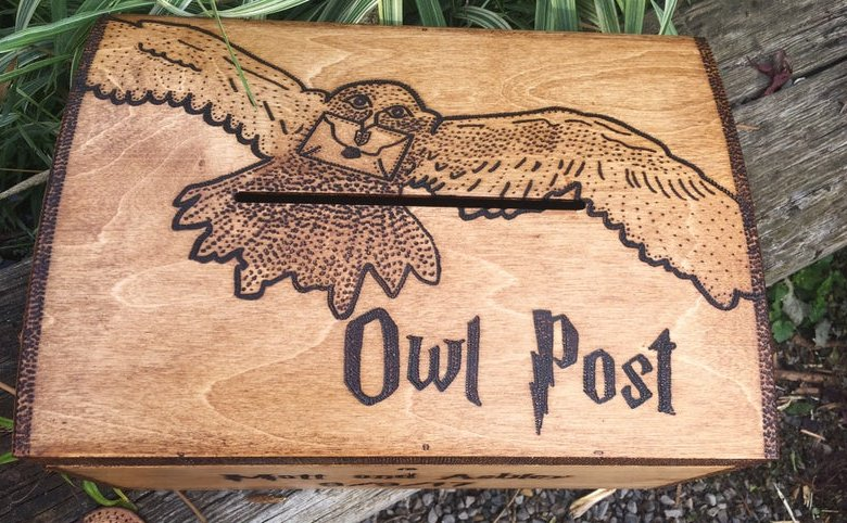 Harry Potter Owl Post Wedding Card Box