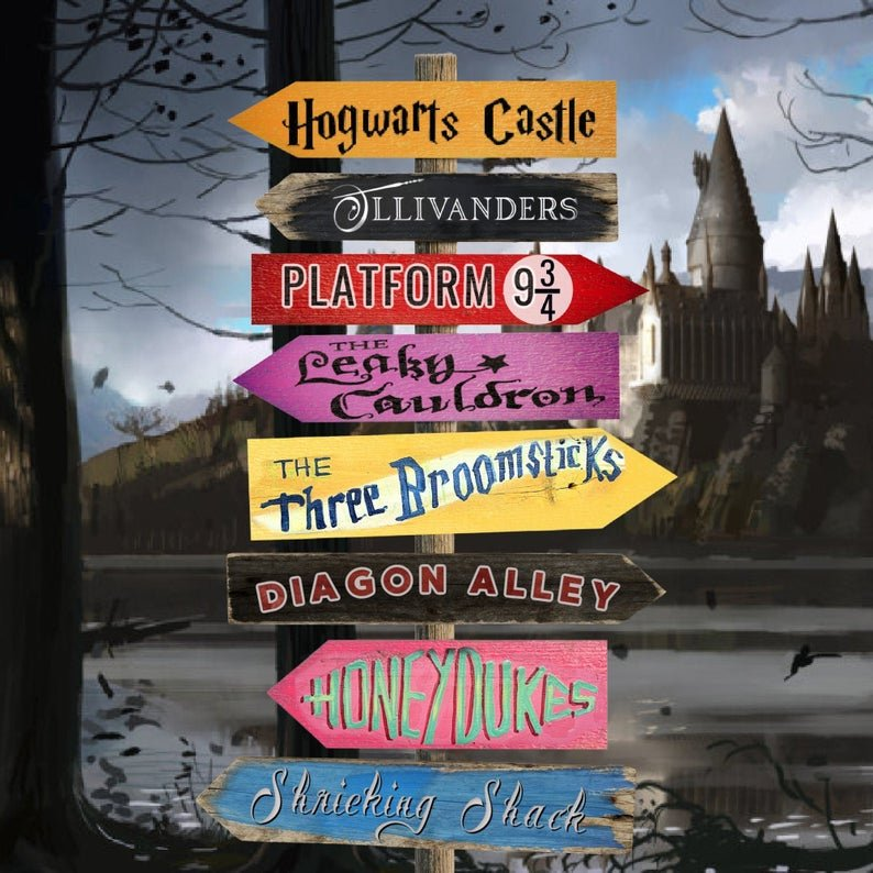 Hogwarts Directional Signs