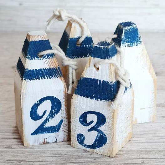 Lobster Buoys Nautical Wedding Theme Table Numbers