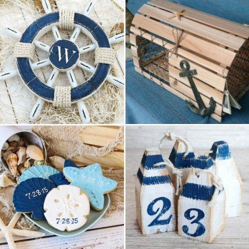 Nautical Themed Wedding Decor