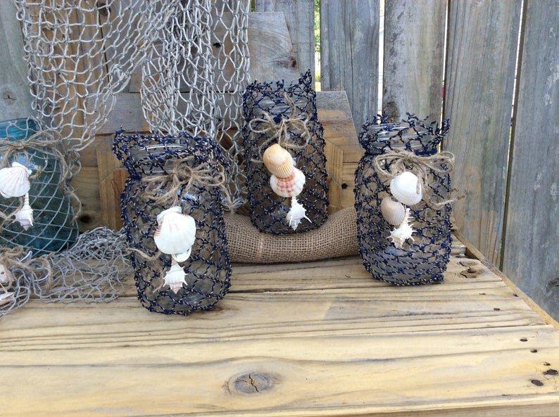 Nautical DIY Wedding centerpieces