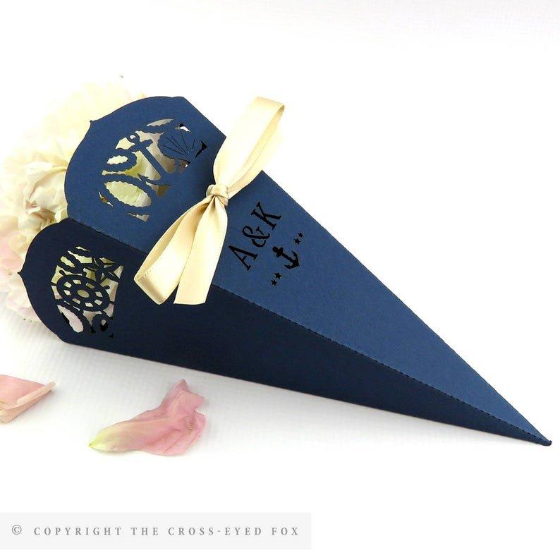 Nautical Wedding Confetti Cones