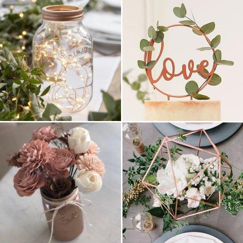 Rose Gold Love-Themed Bridal Shower