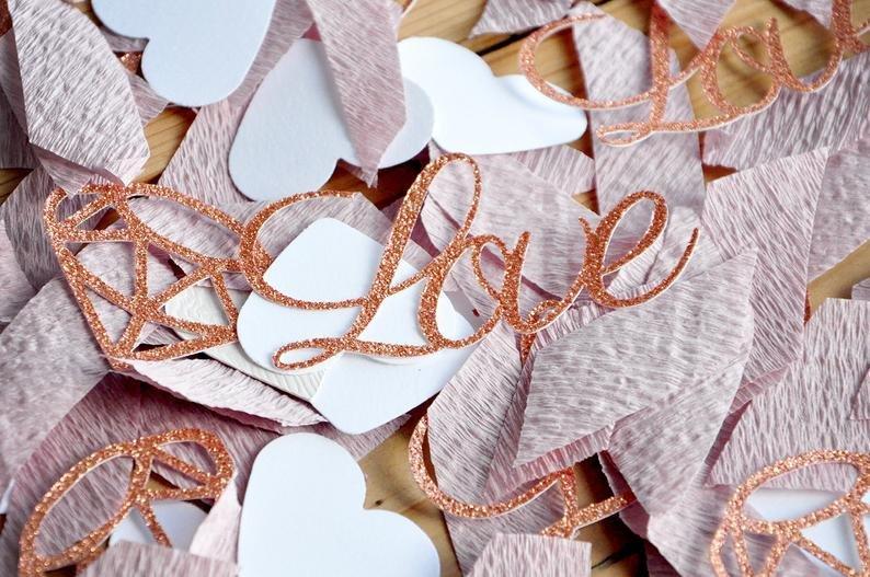 Rose Gold Love & Diamond Confetti