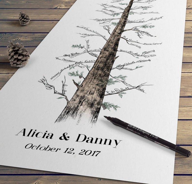 Signature Tree Unique Alternative Wedding Guest Book