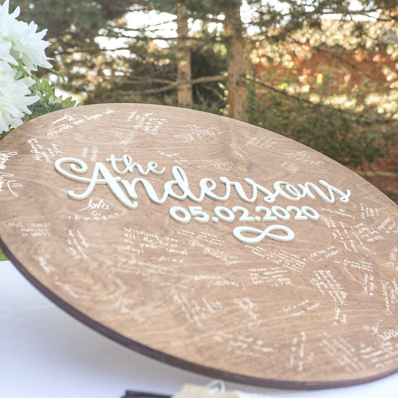 Custom Alternative Wedding Guest Book