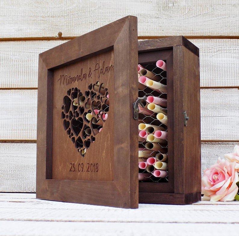 Shadow Box Alternative Wedding Guest Book