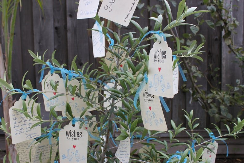 Wishing tree Tags Wedding Alternative Guest Book Idea