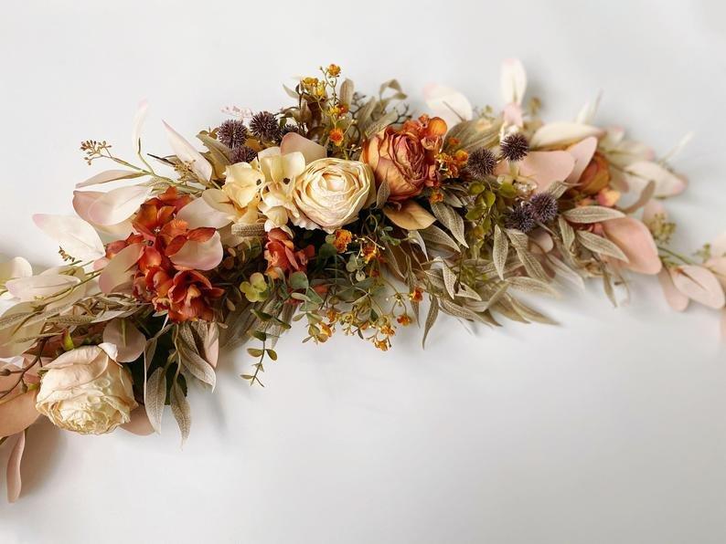 Fall Wedding Flower Swag Wedding Arch Decor