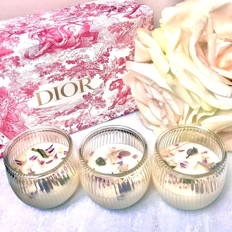 Dried Flower Candle Bridal Favors