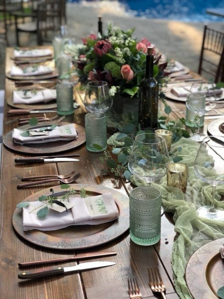 Cheesecloth Wedding Table Runner