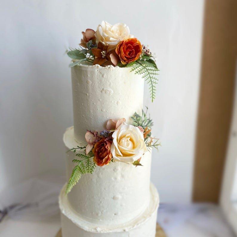 Rust Wedding Cake Topper