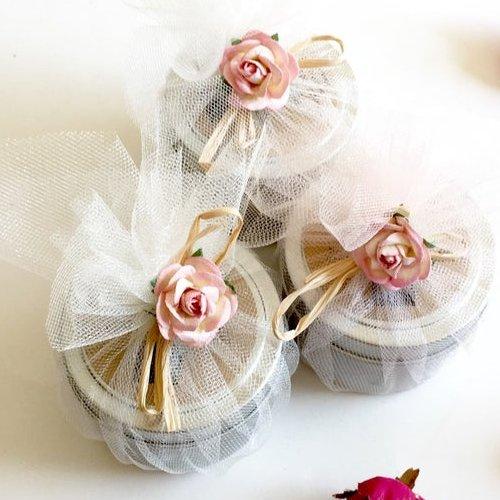 Garden Rose Soy Candle Bridal Favors
