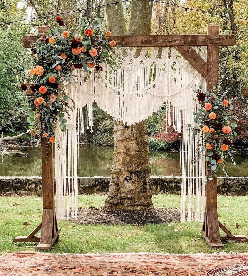 Large Macrame Backdrop Bohemian Fall Wedding Decor