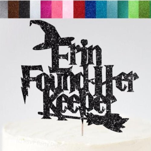 Harry Potter Custom Name Found Your Keeper Wedding Cake Topper