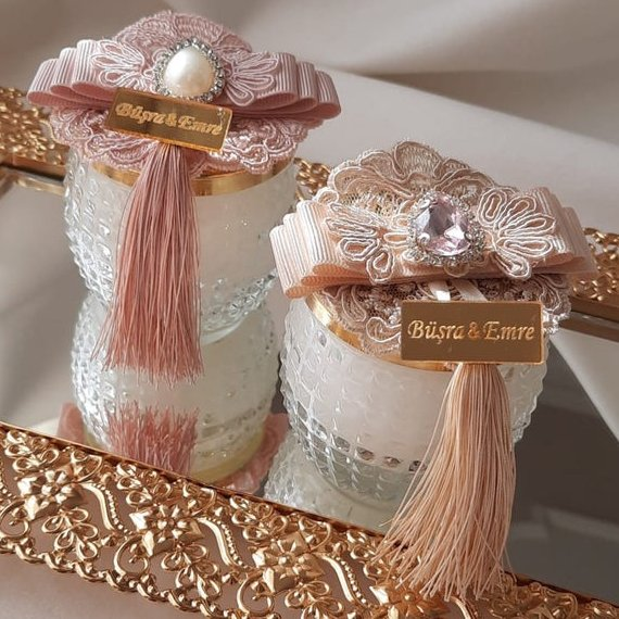 Glass Jar Candle Wedding Favors