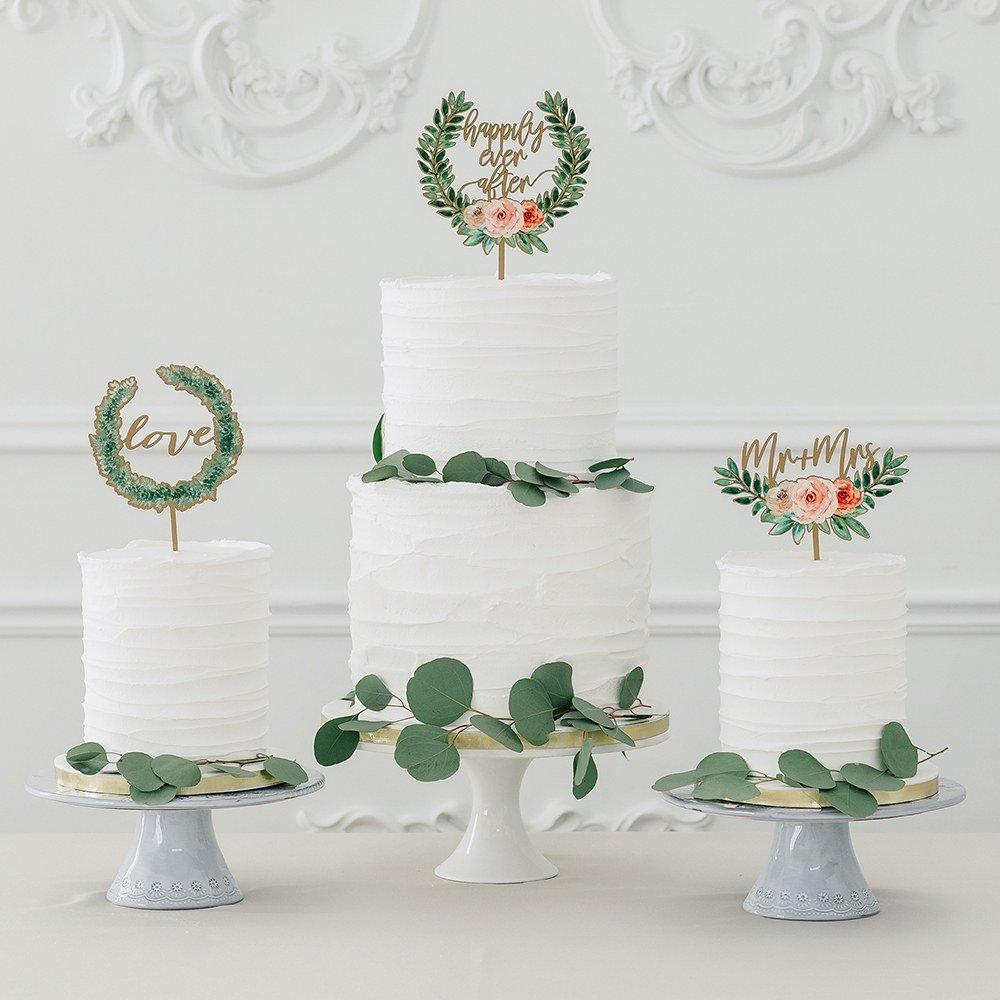 Wood Wedding Cake Topper