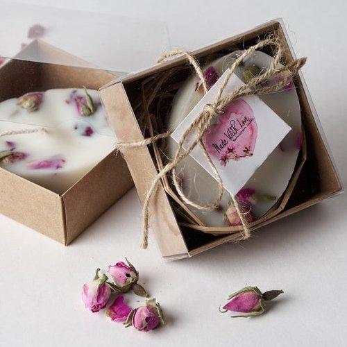 Rose Candle Bridal Favors