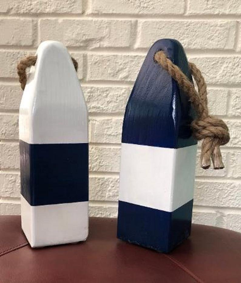 Nautical Bridal Shower Navy Blue Buoys Decor