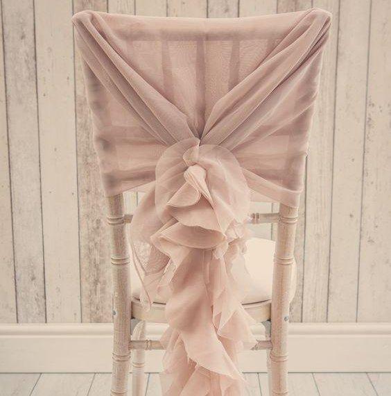 Stylish Wedding Ruffle Chair cover